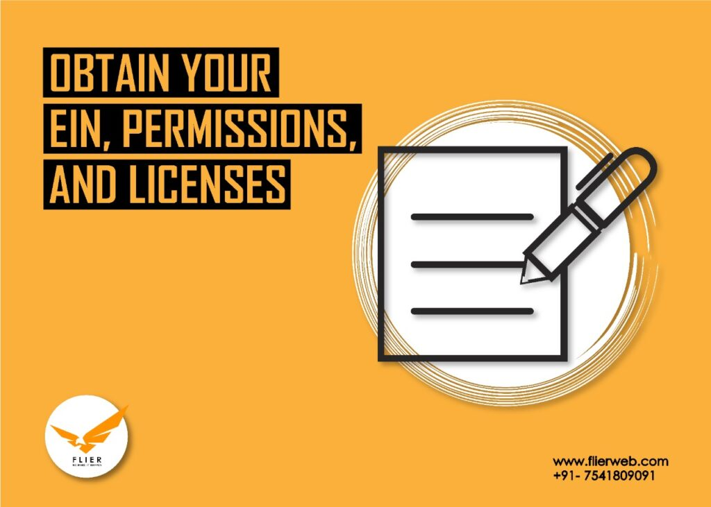 Obtain your EIN, permissions, and licenses